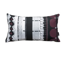 Burgundy Folklore Rectangular Pillow