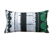 Folklore Green Rectangular Pillow