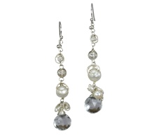 White Cinderella Earrings