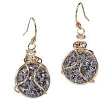 Glittering Druzy Earrings