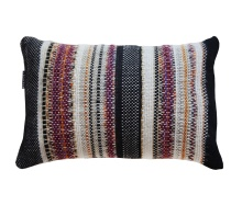 Handwoven Burgundy Pillow