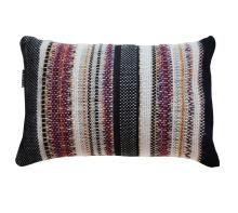 Handwoven Burgundy Pillow
