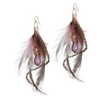 Pastel Feather Earrings