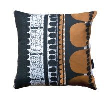Orange Folklore Square Pillow
