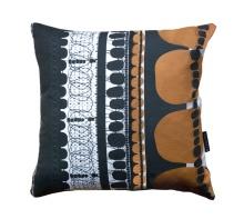 Orange Folklore Square Pillow