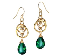 Green Dazzle Earrings