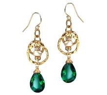 Green Dazzle Earrings