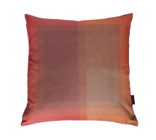 Orange Red Square Pillow