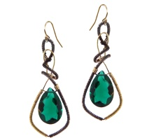 Green Snake Earrings