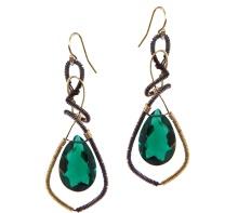 Green Snake Earrings