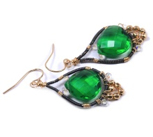 Green Moroccan Teardrop Earrings