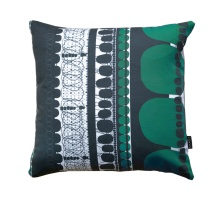 FOLKLORE GREEN SQUARE PILLOW