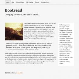 Bootread Responsive RapidWeaver Theme