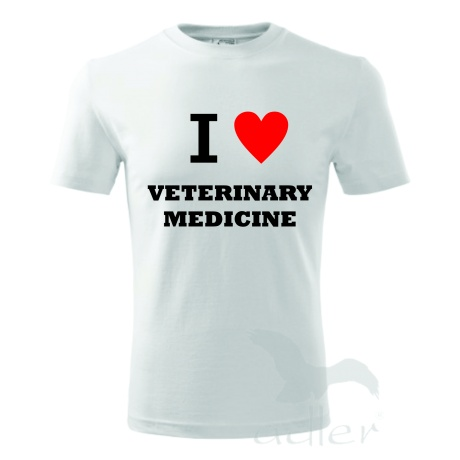 Tricou I LOVE VETERINARY MEDICINE